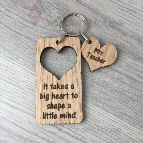 Teacher Keyring, It takes a big heart